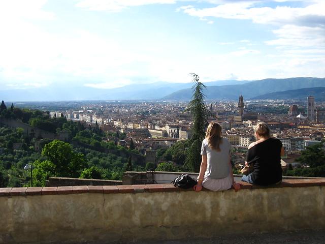 フィレンツェの街並みの景色のフリー写真素材