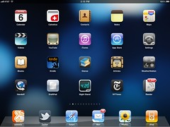 What's on my iPad. (Screen 1.) The home screen. (Jeffrey) Tags: apple apps ipad