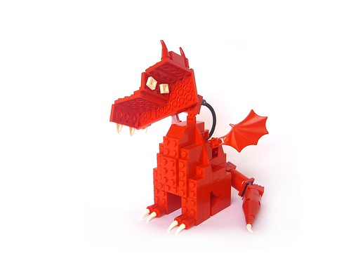 """Gathering for Gardner"" LEGO Dragon"
