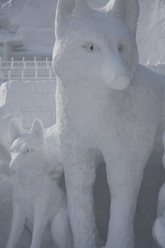 Snow wolf by brianfarrell