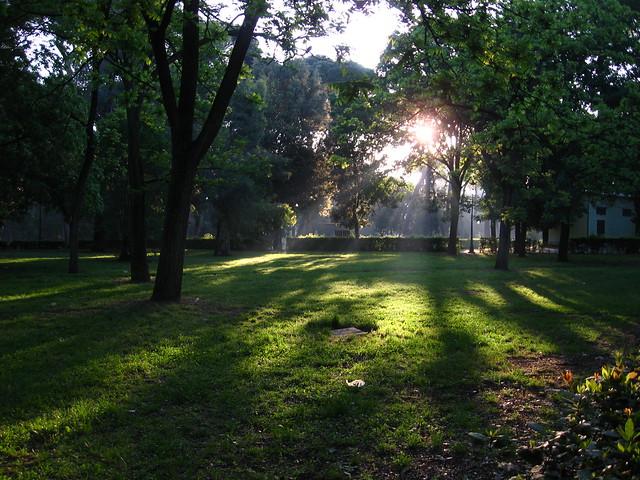 ボルゲーゼ公園のフリー写真素材