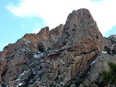 Piste forestière du San Petru : U Peru sur le versant W des Ferriate