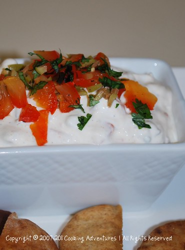 Roasted Red Pepper and Greek Olive Dip with Curry Powder_By Poonam Phatak