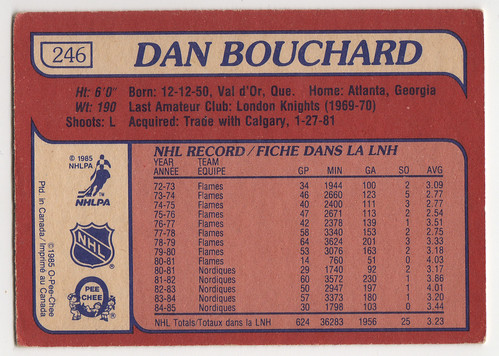 bru - Dan Bouchard back