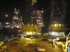 Valhall Nights (thulobaba) Tags: industry night construction crane offshore engineering gas northsea oil s7000 bp 24hour saipem valhall sscv