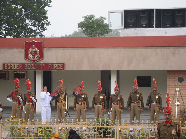 Wagah border ceremony guards