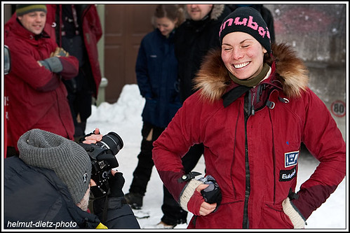 Femundlopet: Nils Bakke takes apicture of Sigrid Ekran