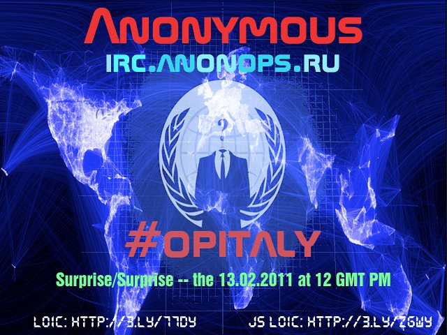 Anonymous #opitaly