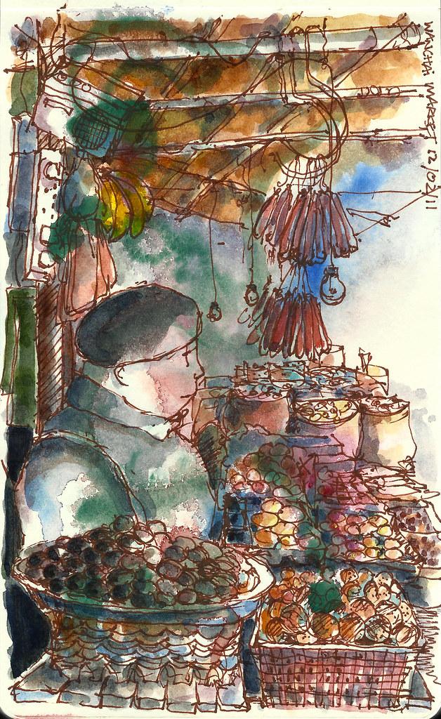 Egg seller @ Wanchai market
