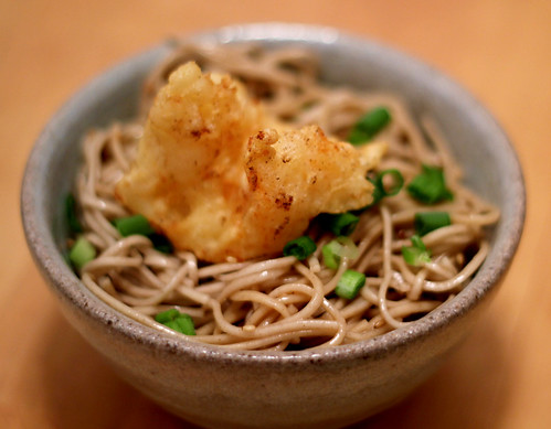 Shrimp Tempura on Soba
