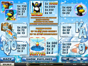 free Penguin Vacation slot mini symbol