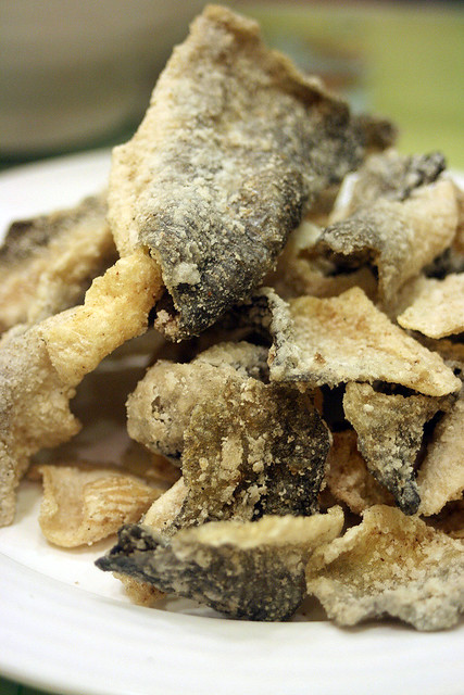 Fried fish skin