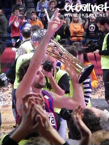 Recogida del trofeo