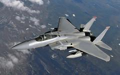 [フリー画像] 乗り物, 航空機, 戦闘機, F-15 イーグル, アメリカ空軍, 201103282300