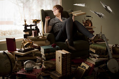 The Book Keeper (Rob Woodcox) Tags: old key library dream surreal books antiques daydream eclectic ispy keeper paperairplanes robwoodcox robwoodcoxphotography