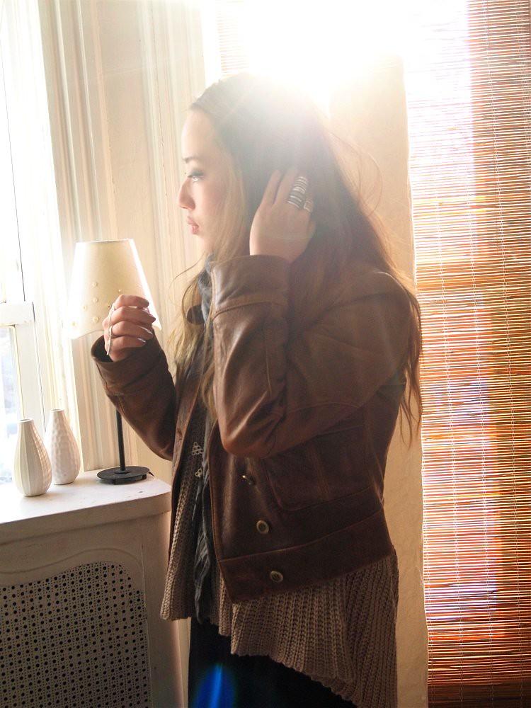 Little Fashion Bird BCBG Leather Jacket