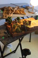 Zaku Ambush making of (Paul Mercado (Dre Merc)) Tags: robot 1200 gundam zaku diorama mobilesuit hcmpro ms06j rx79g   rx79 ms08thteam fanmode dremerc