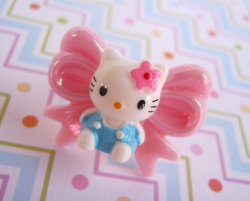 Hello kitty bow ring by sugarbunnies379