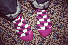 (YI ) Tags: socks happy colourful jacquard