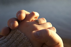 Forever. (soaring4031) Tags: lake engagement hand marriage ring hold