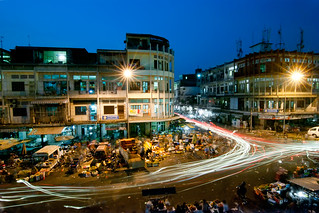 Orussei Market at night
