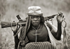 Surma warrior with his Kalashnikov - Omo valley Ethiopia (Eric Lafforgue) Tags: africa people blackandwhite man male horizontal outside outdoors person gun fighter noiretblanc weapon warrior omovalley warriors fighters ethiopia tribe surma personne humanbeing homme ak47 contemplation firearm tribu dehors omo eastafrica suri abyssinia arme 776 combattant combattants exterieur lookingatcamera traditionalclothes automaticweapon blackandwhitepicture waistup guerrier guerriers abyssinie vueexterieure ontheshoulders kalachnikov surlesepaules afriquedelest surmatribe alataille etrehumain habittraditionnel photoennoiretblanc armeafeu tulgit suripeople valleedelomo peuplenomade regardantlobjectif turgit peoplesoftheomovalley surmapeople peuplesdelavalleedelomo villageofturgit villagedeturgit tribudessuri suritribe tribudessurma peuplesuri peuplesurma cadragealataille armeautomatique