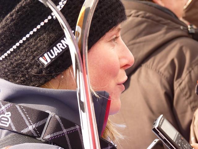 Tessa Worley nach Lauf 1 Slalom