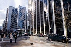 Burrard Street (Tim McDonald) Tags: light canada reflection vancouver nikon bc britishcolumbia nikkor noflashcorner d700 2470mmf28g