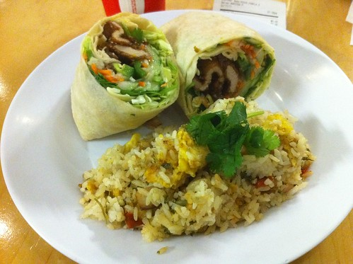 Taiwanese Fried Pork Chop in a wrap