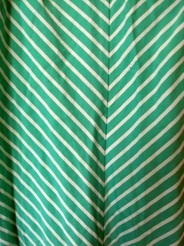 Seafoam Green & White Striped Summer Dress (detail)