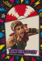 Cyndi Lauper (The Pie Shops Collection) Tags: musician vintage sticker tradingcard singer cyndilauper