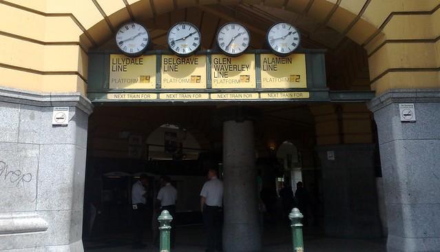 Under the clocks