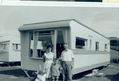 Image titled McCreath family on Holiday at Maidens Caravan Site 1960s