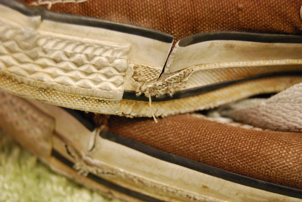 miles (t. machado) Tags  old brown carpet shoes ripped sneakers dirt  converse ea6a9ba7c
