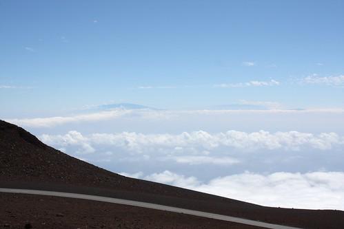 Mauna Kea and Mauna Loa from Haleakala