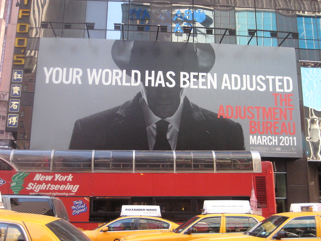 the adjustment bureau movie billboard 3814 by brechtbug