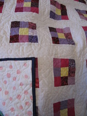 Nine Patch Pansy Quilt