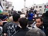 Manifestación en Ramalah en solidaridad con Egipto y Túnez. Crédito: Mel Frykberg/IPS