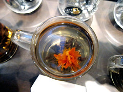 flowering tea (Shelf Life Taste Test) Tags: tea greentea oolongtea tealeaf compressedtea teatasting irongoddessofmercy teadynasty tieguanyintikuanyin