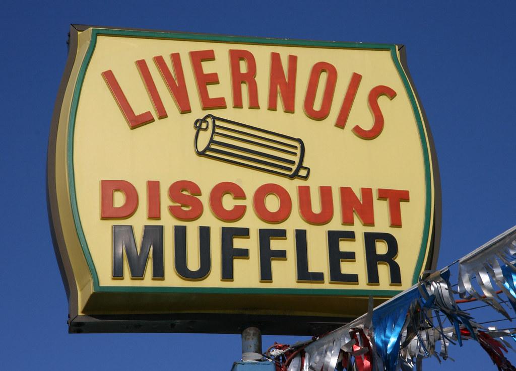 Livernois Discount Muffler Sign: Detroit, MI