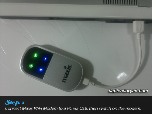 Securing Wireless Network Using Maxis WiFi Modem Step 1