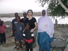Avec la famille de Fatoumata