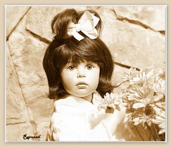 The age of the innocence in sepia. (Rapunzel new (on and off)) Tags: collectibles artistdolls sisselskille