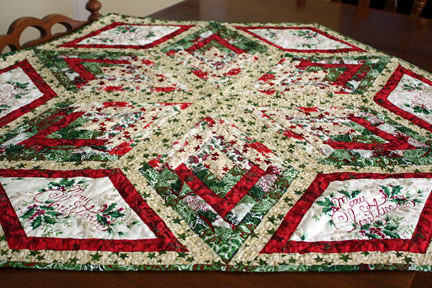 Diamond Christmas Table Topper