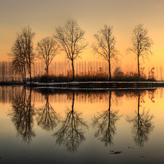Narcissism winter (rinogas) Tags: winter sunset italy lake snow nikon piemonte cuneo hdr nikkor1224 naturepoetry colorphotoaward sommarivadelbosco rinogas leuropepittoresque