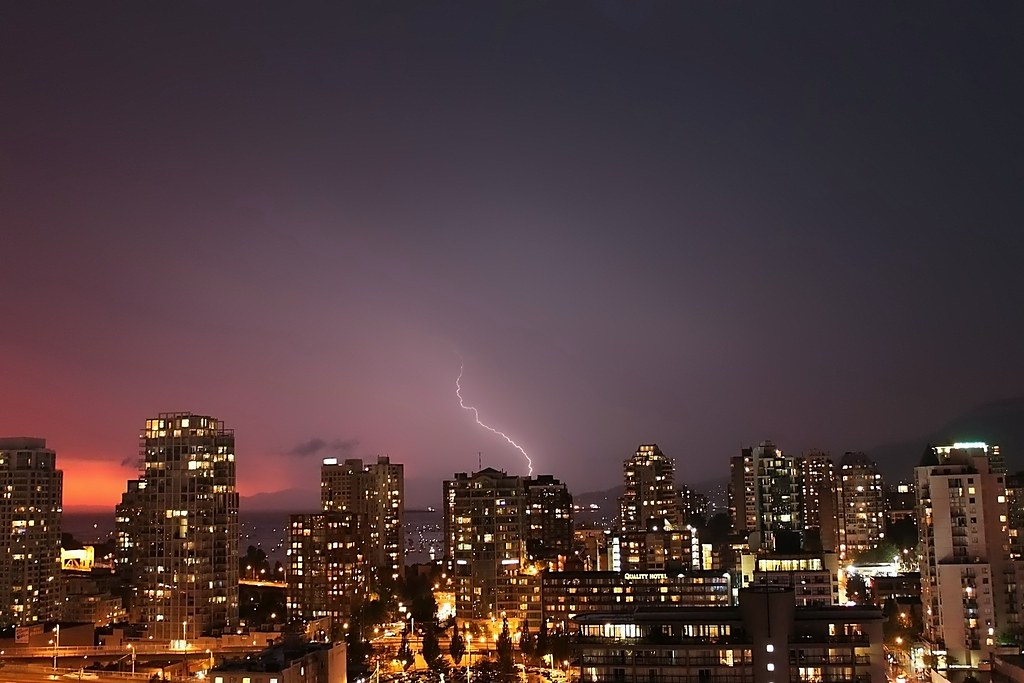 Storm in English Bay