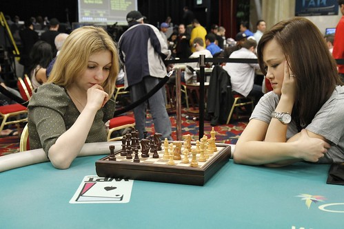 9104 Almira Skripchenko vs Dinara Khaziyeva in Chess