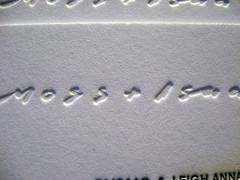 Moss + Isaac Letterpress Cards - Logo Closeup
