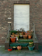 Entrance. (remember moments) Tags: door plants flower green stairs closed bricks steps entrance cologne kln dietmarvollmer