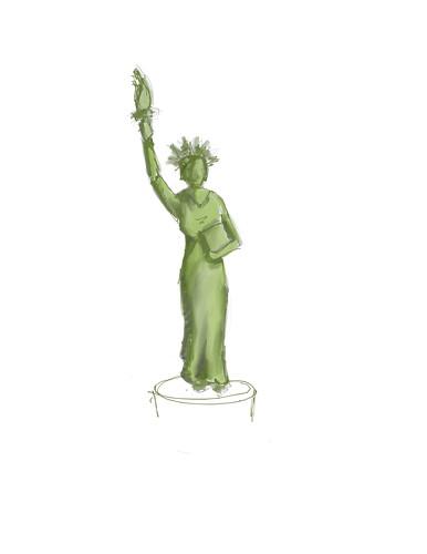 StatueofLib Speedpaint
